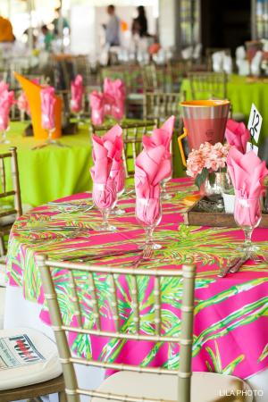 Lilly table settings at sunday brunch so palm beach for Table 52 sunday brunch