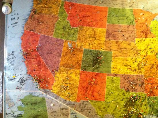 west usa map pins showing where people came from picture of