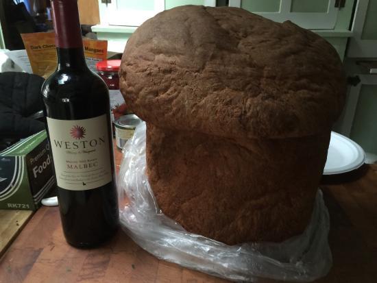Wendell, ID: Huge loaf of Basque bread.