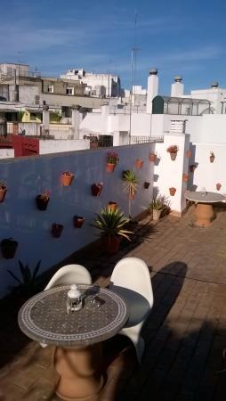 Hotel Un Patio al Sur : la terrasse