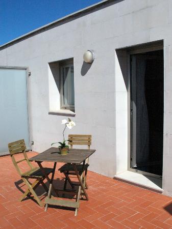 Hotel Alaquas: Terraza