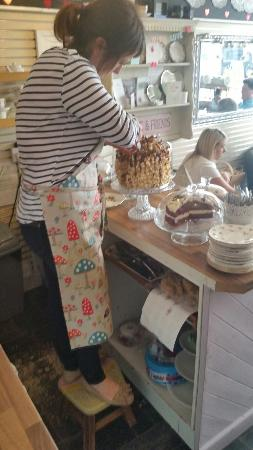 For the Love of Cake: Odette had to stand on a chair to cut this ridiculously huge cake!!