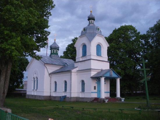 Kosava, Belarus: Главный вход в церковь