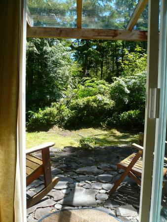 Emerald Forest Bed & Breakfast: view to outside