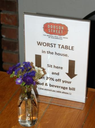 Dodson Street Beer Garden : Dodson Beer Garden special table