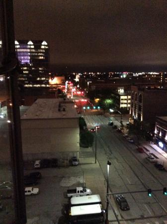 Hotel Deco XV : View from our 9th floor room, looking at famous downtown Omaha, NE in Old Market district.