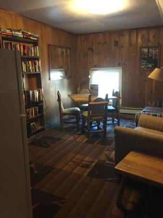 The Twin Lakes Inn: Upstairs common room / library