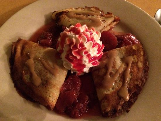 The Clubhouse at Frenchmans: The chocolate crepes served as dessert one evening.  Very good