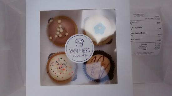 Van Ness Cupcake: quatre gateaux bien chers et bien sucrés
