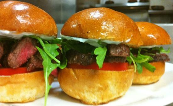 The Grill on Main: Flat Iron Sliders