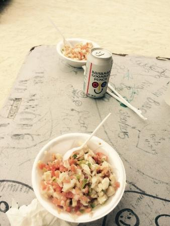 Bimini: A friend recommended we stop by here for lunch. The conch salad is amazing!