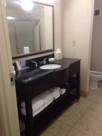 Hampton Inn Knoxville-East: modern, boutique hotel-style bathroom