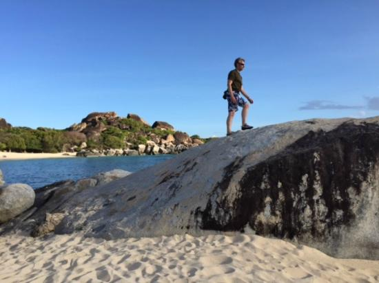 Guavaberry Spring Bay Vacation Homes: Beautiful boulders