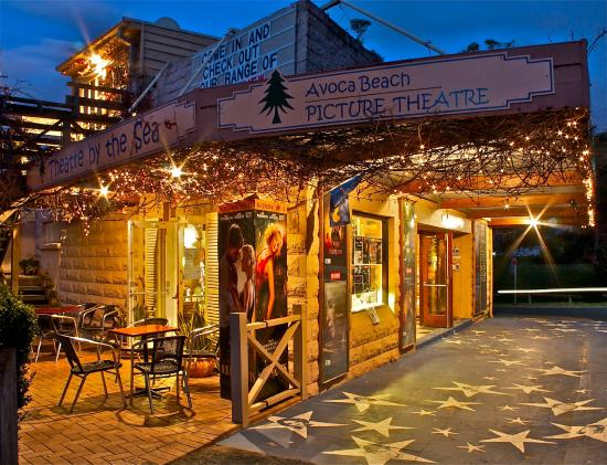Avoca Beach Picture Theatre by night