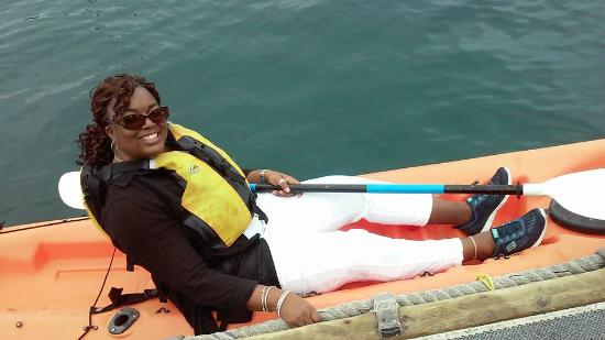 Wet Spot Rentals - Island Outback Tours: Me and my kayak!! Sailing the open seas!!