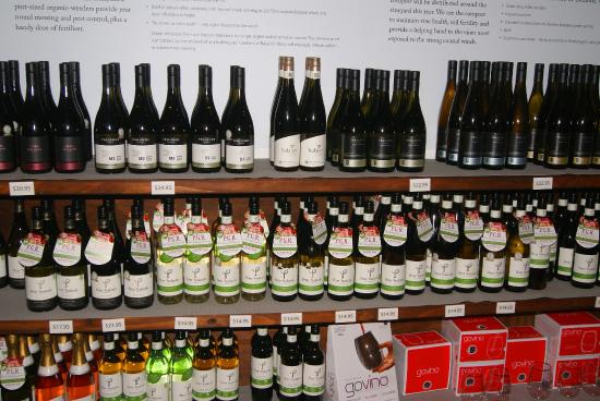 Yealands Estate Winery: some of the selections at Yealands