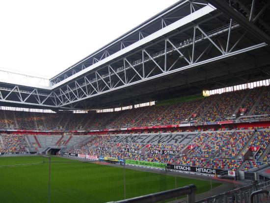 Tulip Inn Dusseldorf Arena: 朝食食べながらの眺め