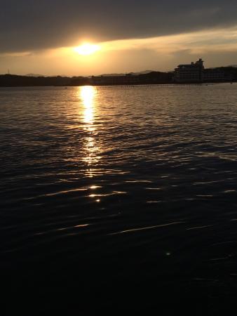 Fukujuso : 渡船からの夕日
