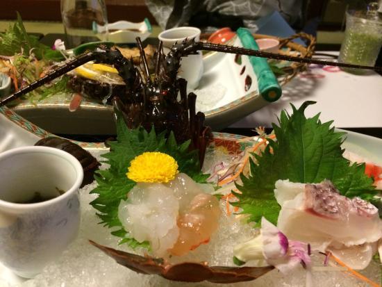 Fukujuso : 夕飯の伊勢海老