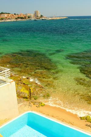 Hotel La Belle Aurore : The beautiful Mediteranean sea, wonderful swimming