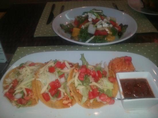 Margaritas: Tacco and greek salad