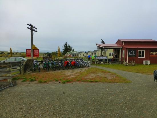 Wedderburn, Nueva Zelanda: Plenty of bikes and Cottage occupants