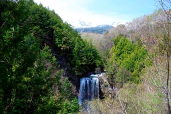 Zengoro no Taki: 善五郎の滝と乗鞍岳