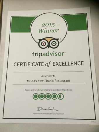 Mr Jd's New Titanic Restaurant : Thanks for your reviews