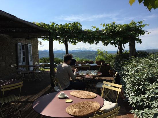 The breakfast terrace picture of la locanda radda in for The terrace brunch