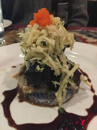 C ST. BISTRO: Amazing appetizer with SE Asian style BBQ, herring, house-made caviar. Wow!
