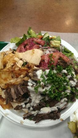 Shawarma Kingdom Restaurant : DELICIOUS mixed shawarma plate!