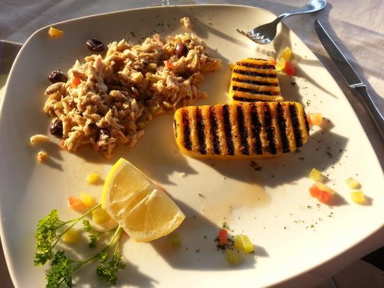 Green Beach : Luccio con polenta
