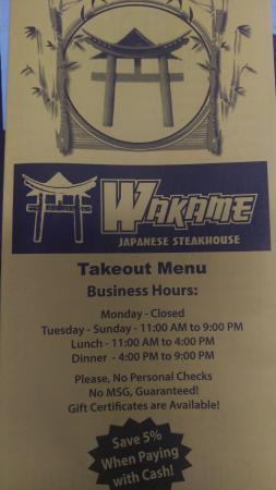 Wakame Japanese Steakhouse