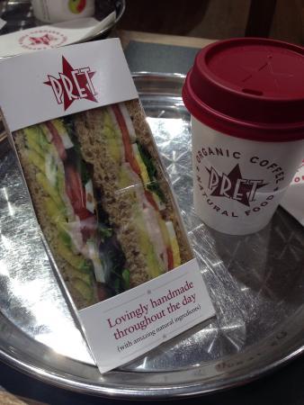 Pret A Manger: アボカドのサンドイッチ