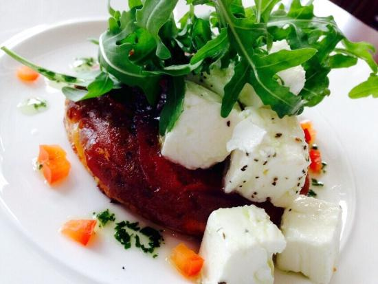 Taylor's Restaurant: Feta and red onion tartlet