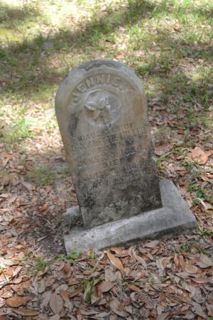 Micanopy Cemetery: One of the Many Old Headstones here