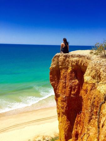 Olhos de Água, Portugal: Praia da Falesia (Steilküstenstrand)