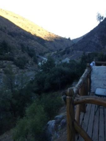 Santuario del Rio : desde el balcon del dormitorio