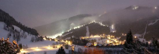Pension Ronacherhof: Aussicht-Abendstimmung-Winter