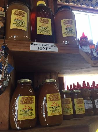 Julian Cider Mill: HONEY and lots of it