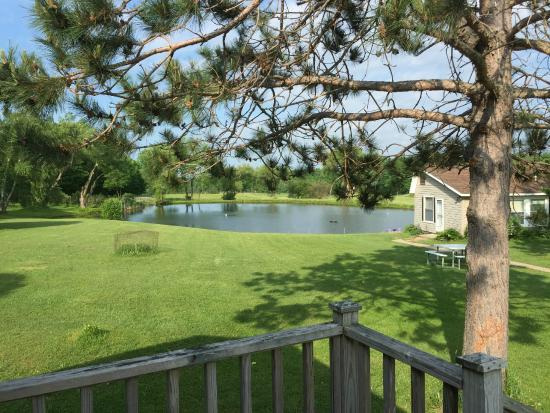 Ostrander's Bed & Breakfast: View of pond from cottage