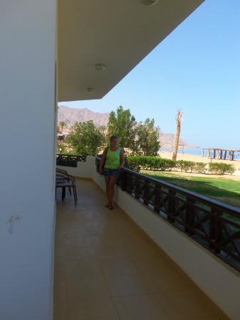 Sea Sun Hotel Dahab: Balkon, naja etwas zu klein, (Grins)