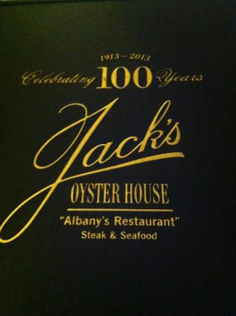 Jack's Oyster House : Menu cover