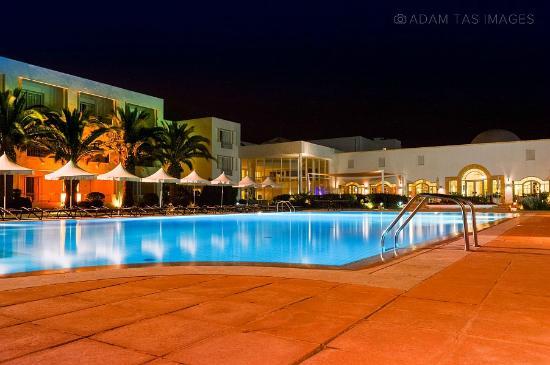Vincci Flora Park: Vincci's swimming pool area at the evening. photo: Adam Tas  #hammamet #adamtasimages #vincci