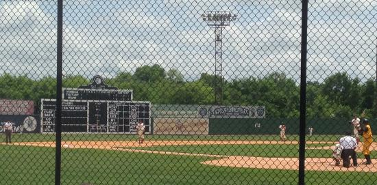 Rickwood Field Park: Looking at the old score board run electronically now.