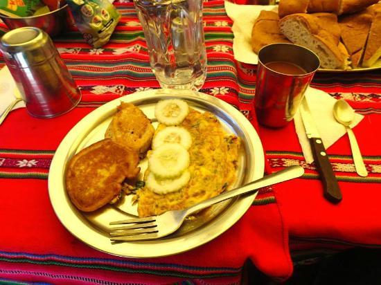 Mayuc: Breakfast on the Salkantay trek (we ate like queens!)