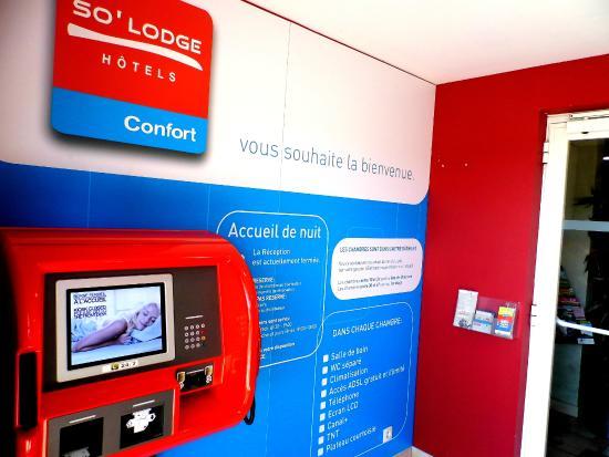 So'Lodge Niort A83 : Réception automatique durant les heures de fermeture de la réception