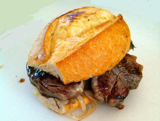 El Gaucho Argentino: Filet mignon sandwitch, a must try