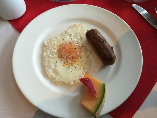 "James Bay Tea Room and Restaurant: One egg with a ""banger"" (Sausage)."