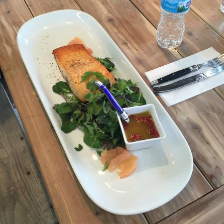 Locally Grown Gardens: Salmon and greens